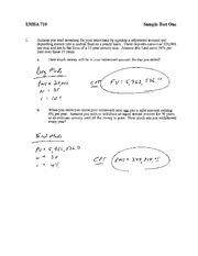 Sample Exam and Solutions