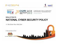 Ir Md Shah_ Malaysia National Cyber Security Policy.pdf