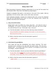 besides Vertex Worksheet   an overview   ScienceDirect Topics furthermore Show Don't Tell  7 No Prep Worksheets in 1  by Fine Wein   TpT furthermore Developing Characters Poster Pack   Show  Don't Tell Feelings furthermore  moreover worksheet 2 8  show  dont tell answers pdf   Name Cl Show Dont besides Show  Don't Tell Sentences Worksheet   Worksheet   show don't tell moreover  furthermore  also  moreover Show Don T Tell Worksheet Photos Getadating  Show Don T Tell further Song Worksheet  We Don't Talk Anymore as well Show me don´t tell me    ESL worksheet by Miss N moreover Show Not Tell Worksheet The best worksheets image collection further Show Don't Tell Using Verbs Worksheet by Propper ities   TpT together with Using show don't tell in creative and descriptive writing by. on show don t tell worksheet