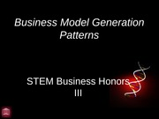 Business Model Patterns Review