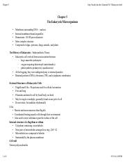 Ch.5 The Eukaryotic Microorganisms
