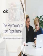 The Psychology of User Experience