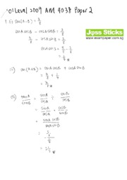 gce-o-level-2009-amaths-4038-paper-2-solutions