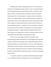 wind energy essay 2