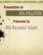 soil pollution final