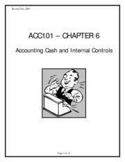 Accounting 1301 Ch6 exercise