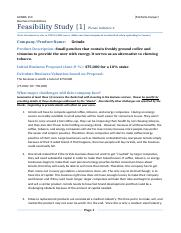 Feasibility Analysis One