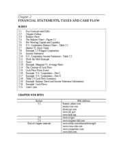 IM Chapter 2 Financial Statements Taxes and Cash Flow