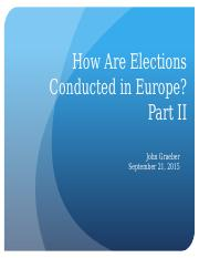 11 - Elections and Electoral Systems II
