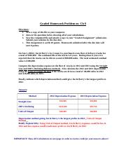 Ch 9 Depreciation Homework Problem - Graded Dep Prob.doc