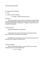 Chem 12 Free Energy and Electrodes