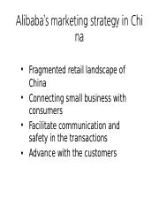 Alibaba's marketing strategy in China