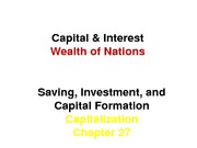 Chapter 27 Capital & Interest
