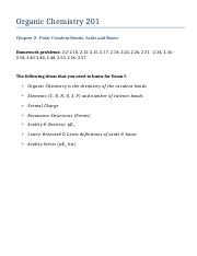 Organic Chemistry 201 - Chapter 2.docx