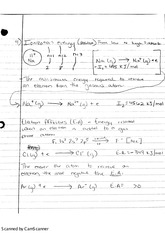 Ionization Energy Class Notes