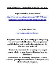 UOP MGT 448 Week 5 Final Global Business Plan NEW.doc