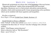 Lecture 1 on Linear Programming