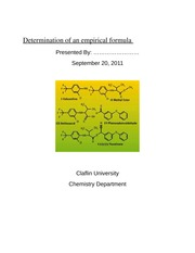 Lab Report: Determination of an empirical formula