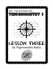 Pre-Calculus Math 40s - Trigonometry Lesson 3