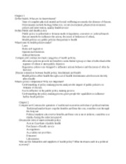 Health Policy Outline Notes