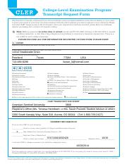 clep-transcript-request-form - College-Level Examination Program ...