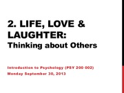 Lecture 10 - Thinking about Others Sep.29.13 (online)
