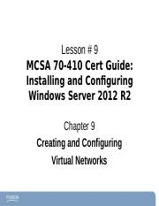 Chapter9Windows2012-70-410 ce