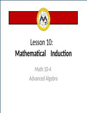 L11 Mathematical Induction