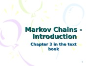 Markov Chains - Introduction