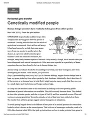 Genetically modified people _ The Economist