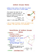 PHYS 144 Uniform Circ Motion Notes