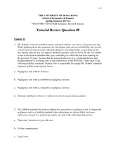 Tutorial 8 Review Questions