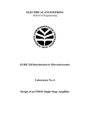 Lecture Notes F on Microelectronics