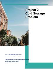 Cold Storage Problem Project 2_Nolwando Maoto.docx