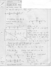 Shear and Bending Moment Assignment