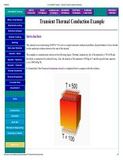 U of A ANSYS Tutorials - Transient Thermal Conduction Example.pdf