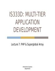 Lec7 - IS333 - PHP & Superglobal Array.pptx