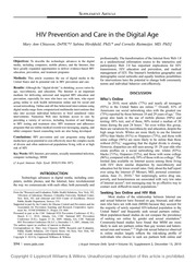 9 Chiasson et al._2010_HIV prevention and care in the digital age