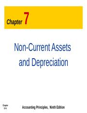 Note 7 Non current asset and Depreciation