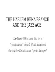 Lesson 3 Harlem Renaissance and the Jazz Age (2).pptx