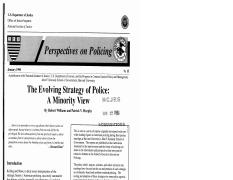 The Evolving Strategy of Police- A Minority View (Williams and Murphy)