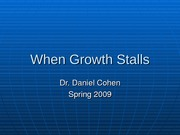 ILRHR4640 Lecture 9- When Growth Stalls