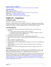 descriptive essay for eng 100 101 English 101 (see course description above) paired with a studio (lab) component  the studio is an intensive study of a variety of writing concepts and strategies.