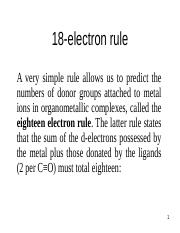 18 electron rule.ppt