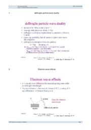 Lecture 15- Electron Waves and Wave Functions