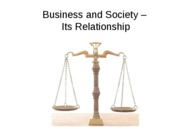 Business and Society  Relationship (online)