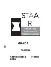 Gr 8 Reading - From Skies Over Sweetwater.pdf - STAAR ...