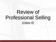 04_Professional Selling Review