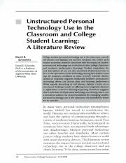 Unstructured Personal Technology Use Classroom and College Student learning.pdf