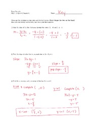 Math 115 Quiz 7 Key on Algebra